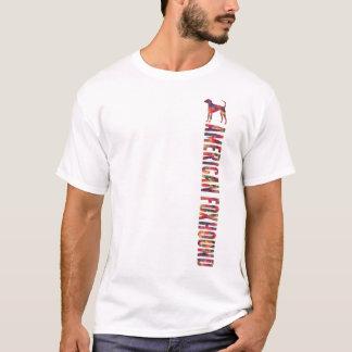 Camiseta T gráfico do Foxhound americano multi