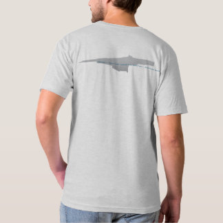Camiseta T gráfico do v-pescoço da estação de HEDWAY,