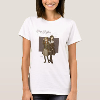 Camiseta T gráfico dos grifos cinzentos para mulheres