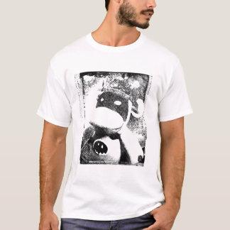 Camiseta T handmade do gráfico do caráter do macaco da