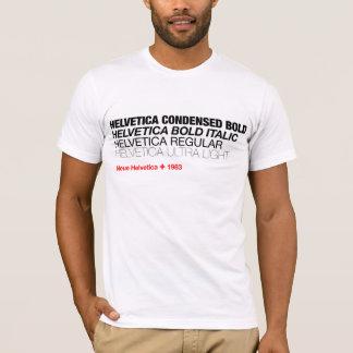 Camiseta T Helvética das variações de Neue