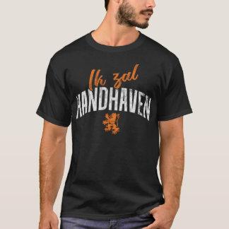 Camiseta T holandês da divisa, Ik Zal Handhaven