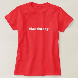 Camiseta T imperativo