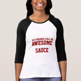 Camiseta T impressionante do molho