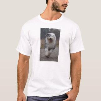 Camiseta T inglês velho do Sheepdog - funcione o cão!