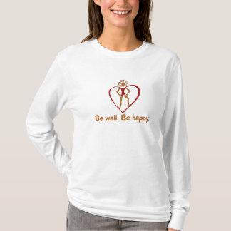 Camiseta T inspirador do bem-estar para o maior bem estar