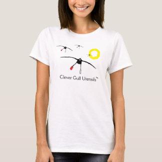 Camiseta T inteligente dos utensílios da gaivota