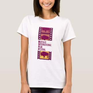 Camiseta T internacional do logotipo de Fesival do filme do