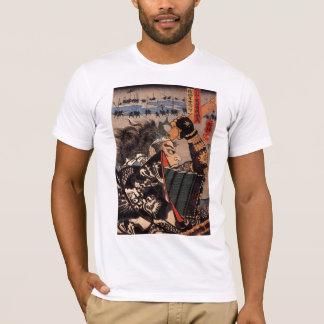Camiseta T japonês do samurai de 100 generais bravos