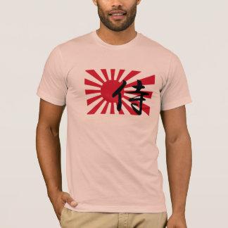 Camiseta T japonês do samurai de Sun de ascensão