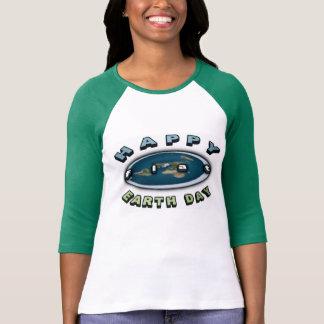 Camiseta T LISO feliz superior de um Dia da Terra de 2017