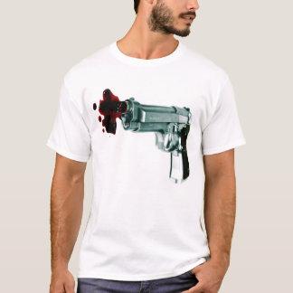 Camiseta T listrado branco da arma do sangramento e