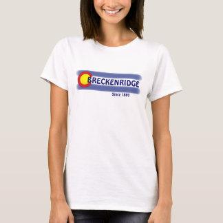 Camiseta T local das senhoras da bandeira de Breckenridge