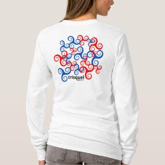 Camiseta T longo da luva