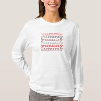 Camiseta T longo da luva da mamã saboroso