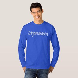 Camiseta T longo da luva de Edgamakated