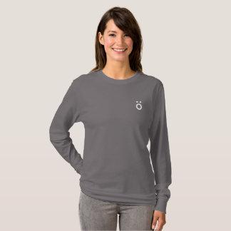 Camiseta T longo da luva do símbolo