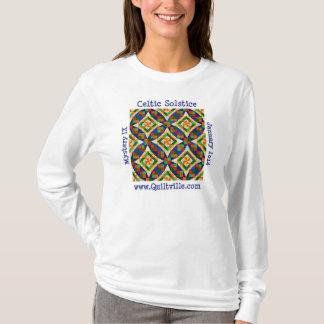 Camiseta T longo da luva do solstício celta