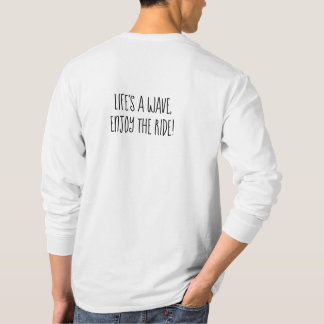 Camiseta T longo da luva dos homens