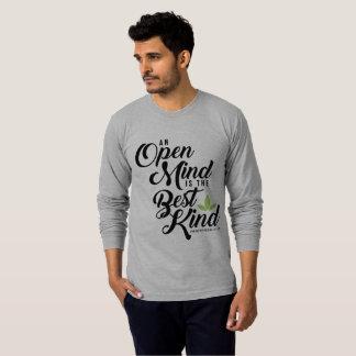 Camiseta T longo da mente aberta de Cannatopia da luva dos