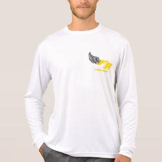 Camiseta T longo da tecnologia da luva dos homens