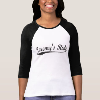 Camiseta T longo do basebol da luva do passeio de Jeremy