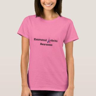 Camiseta T longo do sleve da consciência reumatóide dos