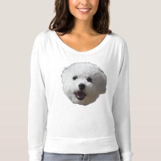 Camiseta T longo feliz de Bichon