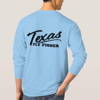 Camiseta T longo ocasional da carcaça da luva de Fisher da