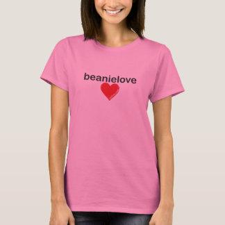 Camiseta T Longo-Sleeved amor do Beanie