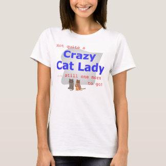 Camiseta T louco da senhora do gato