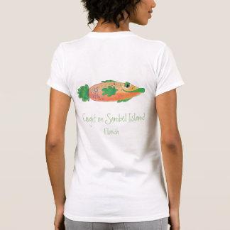 Camiseta T lunático dos peixes de Sanibel Florida