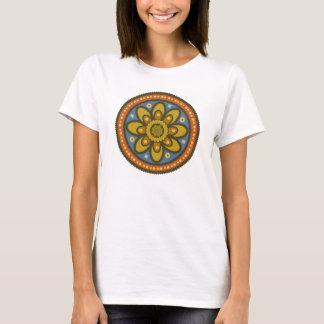 Camiseta T marroquino da flor
