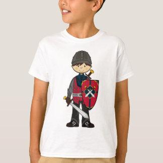 Camiseta T medieval bonito do cavaleiro