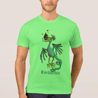 Camiseta T medieval do gráfico do animal do Cockatrice