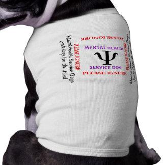Camiseta T mental do cão do cão do serviço sanitário
