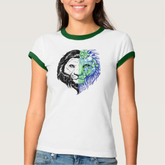 Camiseta T místico da campainha mão original das mulheres