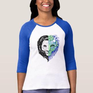Camiseta T místico do basebol mão original das mulheres