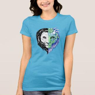 Camiseta T místico do jérsei mão original das mulheres