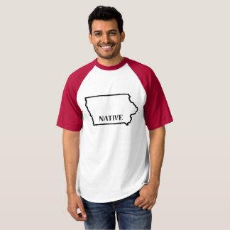 Camiseta T nativo do basebol de Iowa