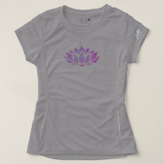 Camiseta T novo tranquilo do esporte do equilíbrio da flor