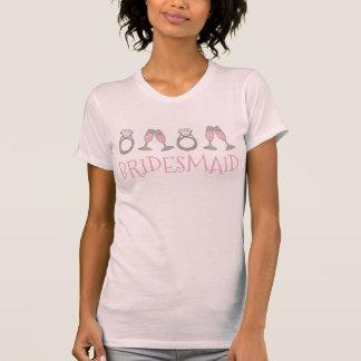 Camiseta T nupcial da festa de casamento da DAMA DE HONRA