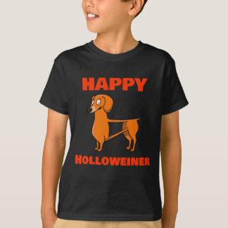 Camiseta T oco feliz bonito da doçura ou travessura do cão
