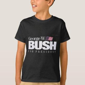 Camiseta T oficial do poster da campanha de George W. Bush