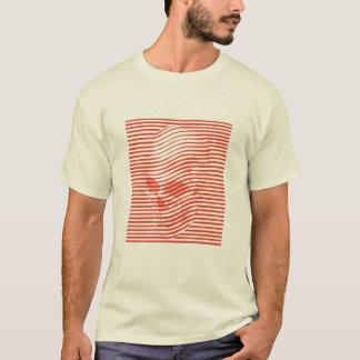 Camiseta T óptico do crânio