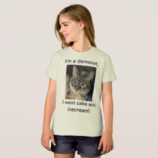 Camiseta T orgânico das meninas de Democat
