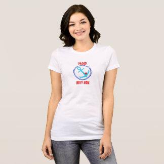 Camiseta T orgulhoso da mamã do marinho