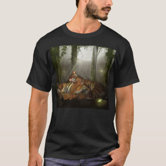 Camiseta T para homens, ano do tigre do tigre, eu te amo