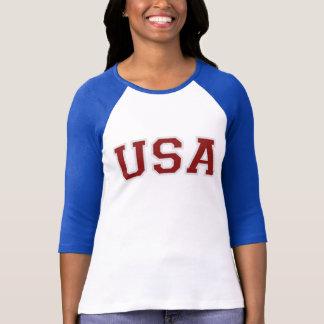 Camiseta T patriótico do TIME DO COLÉGIO 76 dos EUA