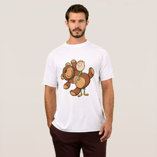 Camiseta T peluches grande do Active dos homens do urso de